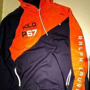 Men's Epic POLO-RL67™ Orange/Navy Hoodie!